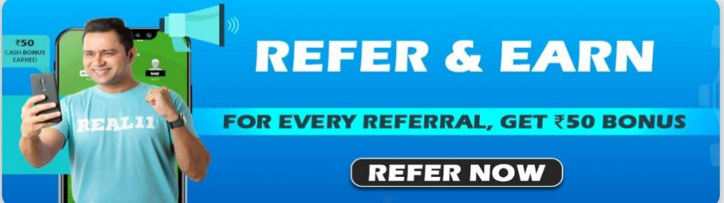 Real11 referal code